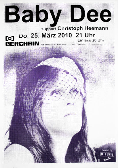 Baby Dee - Berghain poster